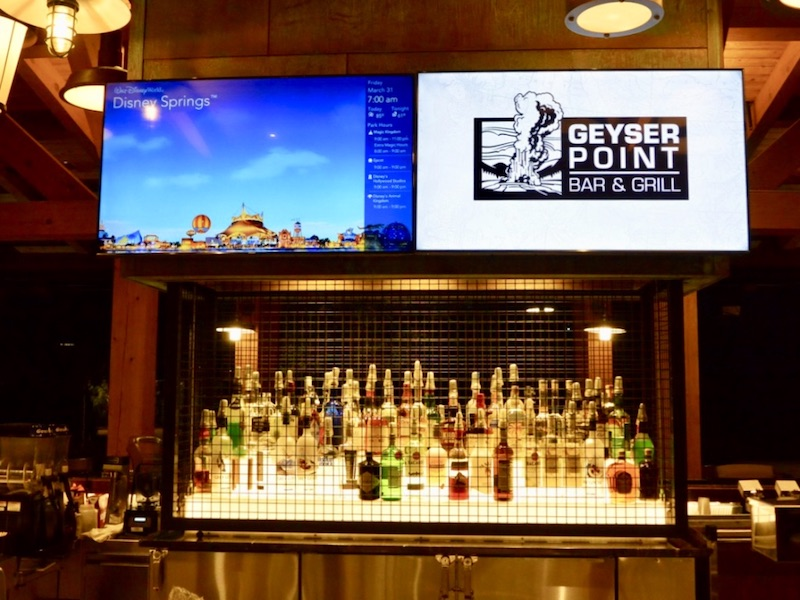 Geyser Point Bar spirits