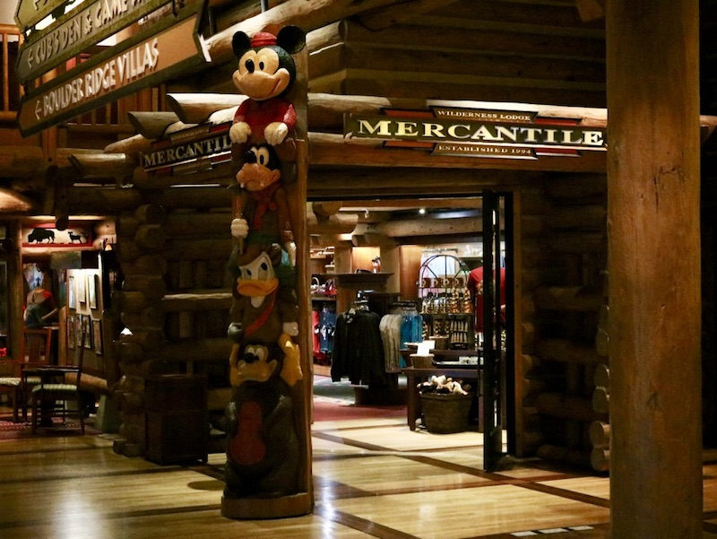 Wilderness Lodge Mercantile gift shop