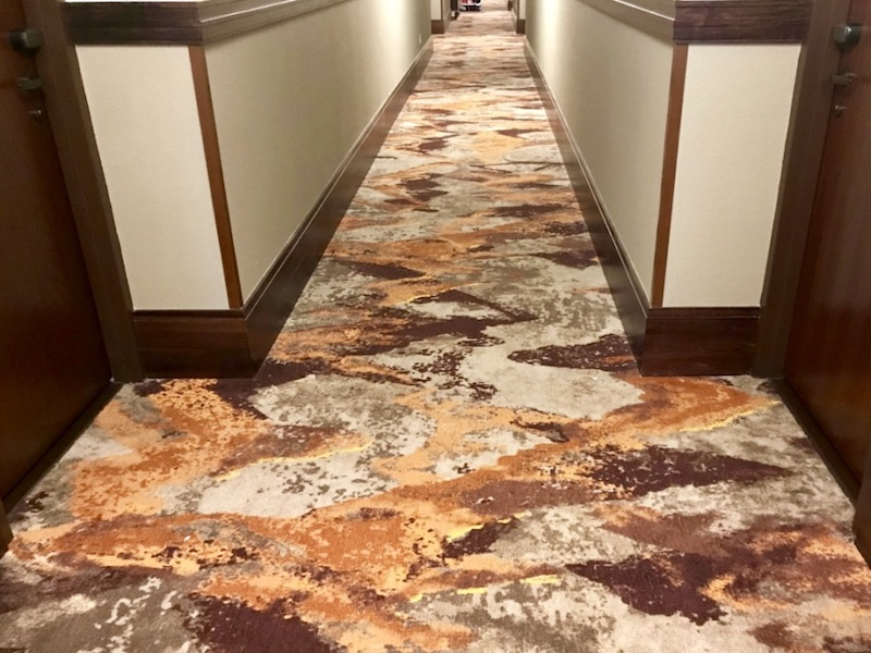 Copper Creek hallway and carpet design