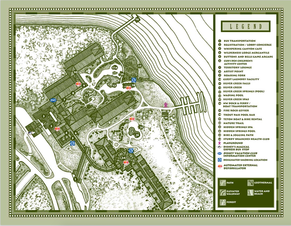 Wilderness Lodge Map